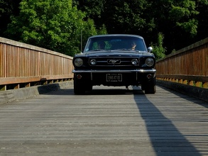 Mustang 1965 on the Wooden Bridge