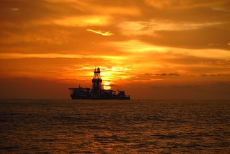 Drill Ship Sunset
