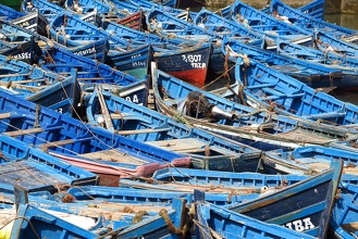 Blue Boats from Essaouira